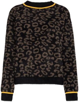 Sweaty Betty Islington leopard jacquard knitted sweater