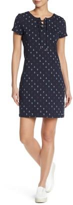 Modern American Designer Lana Anchor Lace-Up T-Shirt Dress