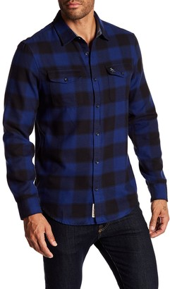 Original Penguin Spread Collared Slim Fit Flannel Shirt