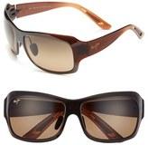 Maui Jim Women's 'Seven Pools' 62Mm Polarized Sunglasses - Gloss Black Fade/ Grey