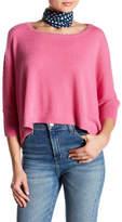 Minnie Rose Short Sleeve Crop Cashmere Pullover Sweater