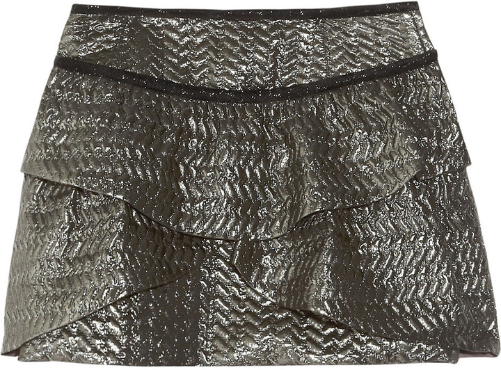 Isabel Marant Bilbao metallic brocade mini skirt