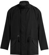 Yohji Yamamoto Detachable-scarf Wool Overcoat
