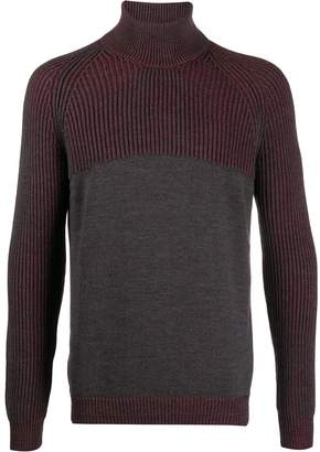 Roberto Collina contrast turtle-neck jumper