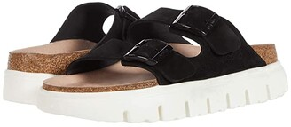 Birkenstock Arizona Chunky by Papillio (Black Suede) Women's Sandals