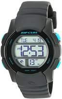 Rip Curl Women's 'Mission Girls Digital' Quartz Plastic and Polyurethane Sport Watch, Color:Black (Model: A2892G-BLK)