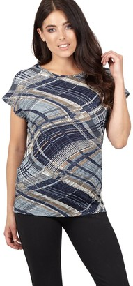 M&Co Izabel abstract check boxy top