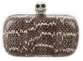 Alexander McQueen Python Skull Box Clutch