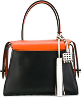 Tod's cube pendant tote
