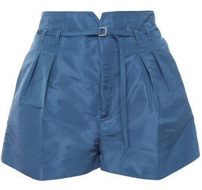 RED Valentino Belted Pleated Taffeta Shorts