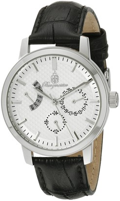 Burgmeister Women's Quartz Watch with White Dial Analogue Display and Black Leather Bracelet BM218-112