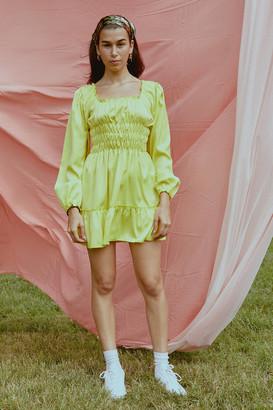 Lisa Says Gah Agatha Smocked Mini Dress