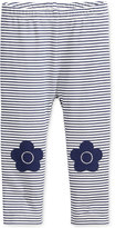 First Impressions Striped Flower-Patch Leggings, Baby Girls (0-24 months), Only at Macy's