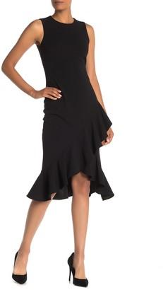 Calvin Klein Sleeveless Ruffled High/Low Midi Dress