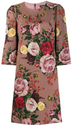 Dolce & Gabbana floral print shift dress