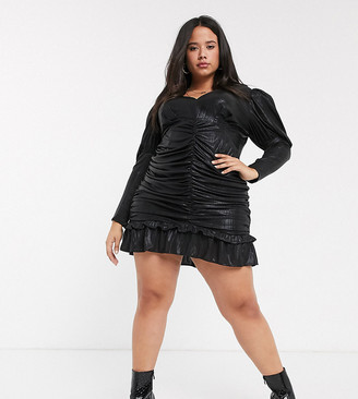 Skylar Rose Plus mini skater dress with tiered sleeves