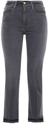 Frame Le High Straight Distressed High-rise Straight-leg Jeans