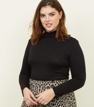 New Look Curves Long Sleeve Roll Neck Top