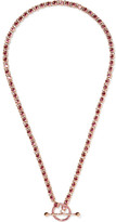 Eddie Borgo Voyager Rose Gold-plated Cubic Zirconia Necklace - one size