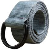 """Maikun Mens & Womens Canvas Belt with Black D-ring 1 1/2"""" Wide 54"""" Long Solid"""