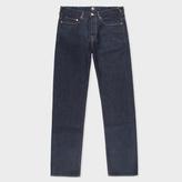 Paul Smith Men's Standard-Fit Indigo-Rinse Ozone-Wash Organic-Cotton Jeans