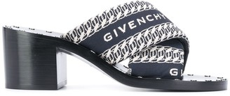 Givenchy Logo-Print 70mm Block-Heel Sandals