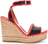 Valentino Leather Color Crochet Wedges