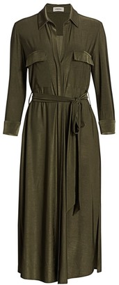 L'Agence Rivi Belted Midi Shirtdress