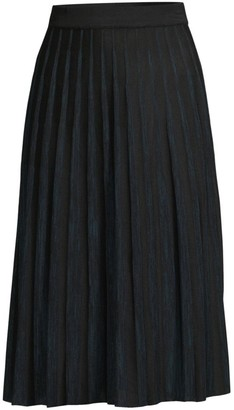 Misook Crystal Pleated Knit Skirt