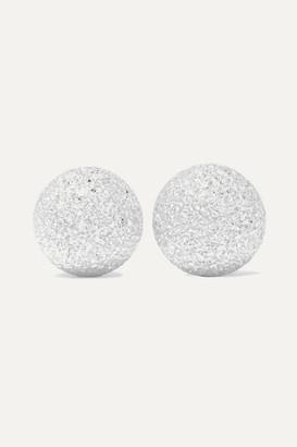 Carolina Bucci Extra Small Florentine 18-karat White Gold Earrings