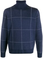 Canali checked jumper