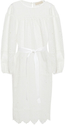 Vanessa Bruno Lindia Belted Broderie Anglaise Cotton Dress