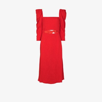 Johanna Ortiz Lady of Heaven pouf sleeve dress