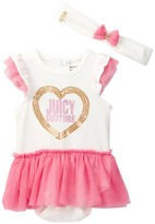 Juicy Couture Tutu Bodysuit & Headband Set (Baby Girls 0-9M)
