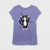 Cat & Jack Toddler Girls' Graphic T-Shirt - Cat & Jack Verily Iris