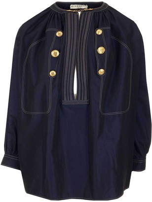Givenchy Button Detail Blouse