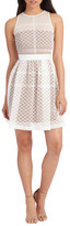 Donna Morgan Embroidered Organza Fit & Flare Dress