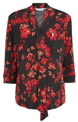 Dorothy Perkins Womens **Maternity Red Floral Print Shirt, Red