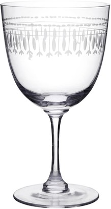 The Vintage List Six Hand-Engraved Crystal Wine Glasses With Ovals Design
