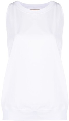 Alexandre Vauthier Embellished-Logo Tank Top