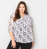 Avenue Abstract Popover Blouse with Camisole