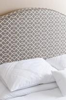 Riley Nail Head Trim Grey Pattern Linen Headboard