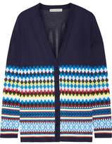 Mary Katrantzou Deino Jacquard-knit Cardigan - Midnight blue