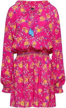 Saloni Ali Floral-print Silk Crepe De Chine Mini Dress
