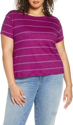 Eileen Fisher Stripe Organic Linen T-Shirt
