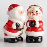 Santa and Mrs. Claus Ceramic Salt and Pepper Shaker Set