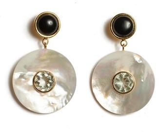 Lizzie Fortunato Taj Disc Earrings in Pearl