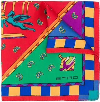 Etro Carousel Print Scarf
