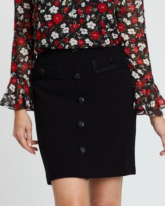 Wallis Military Button A-Line Skirt