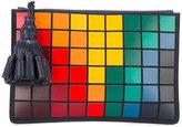 Anya Hindmarch pixel tassel-zip clutch